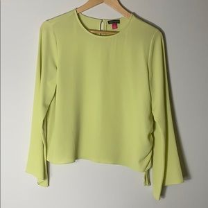 VINCE CAMUTO lime green blouse